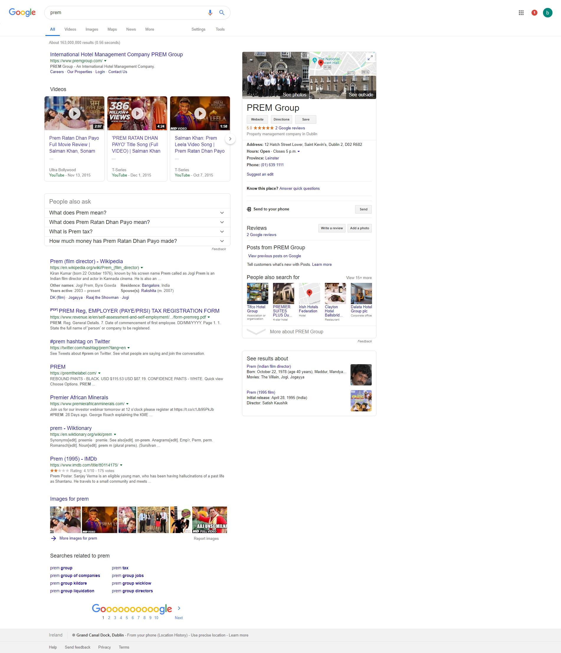 PREM Google Search