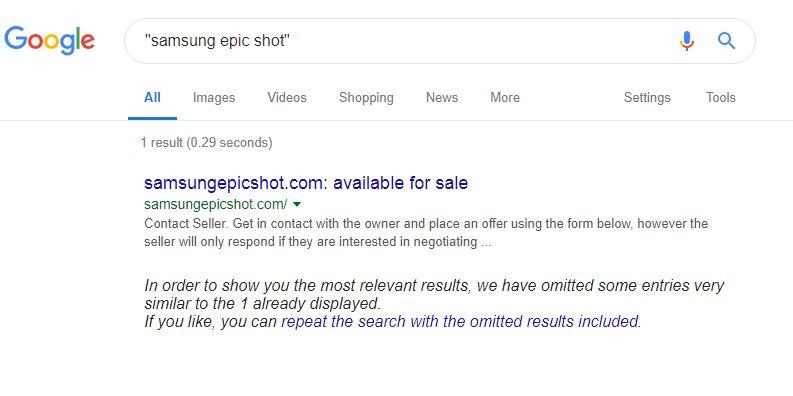 Samsung Epic Shot for Sale