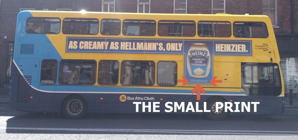HellmanN's Heinz Mayonaise - Small Print