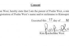 Psalm West Trademark - Kim Kardashian's Consent